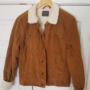 Camel colored corduroy jacket